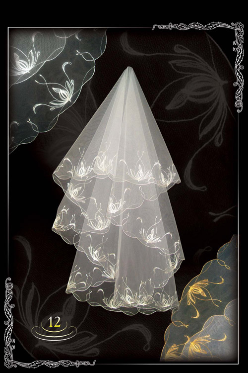 Embroidered veil №12