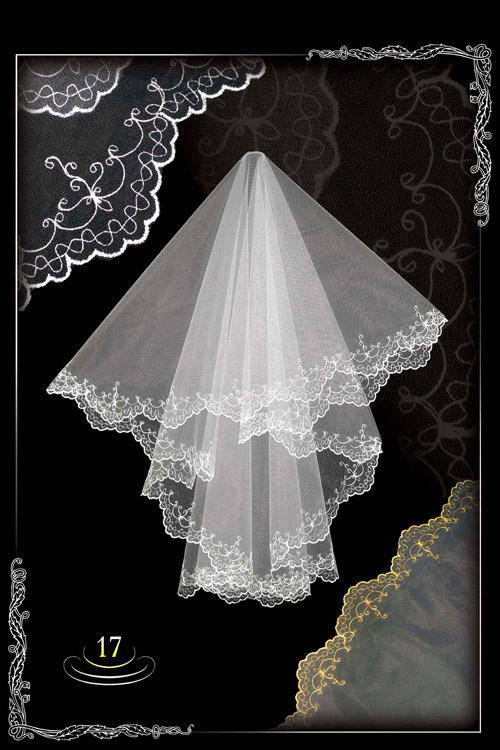 Embroidered veils №17