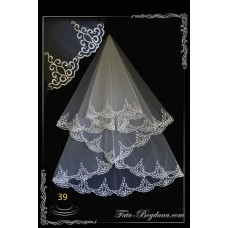 The wedding veil is embroidered with a dressing room №39
