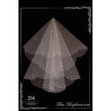bridal veil embroidery №204