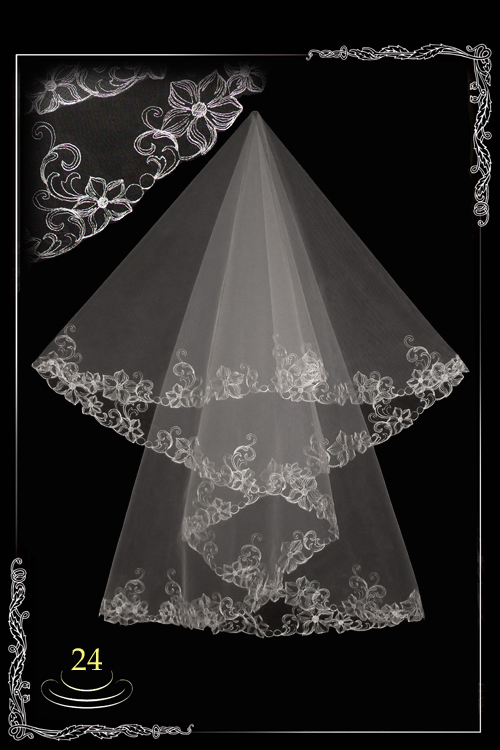 bridal veil embroidery №24