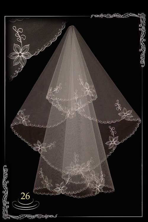 Embroidered veil №26