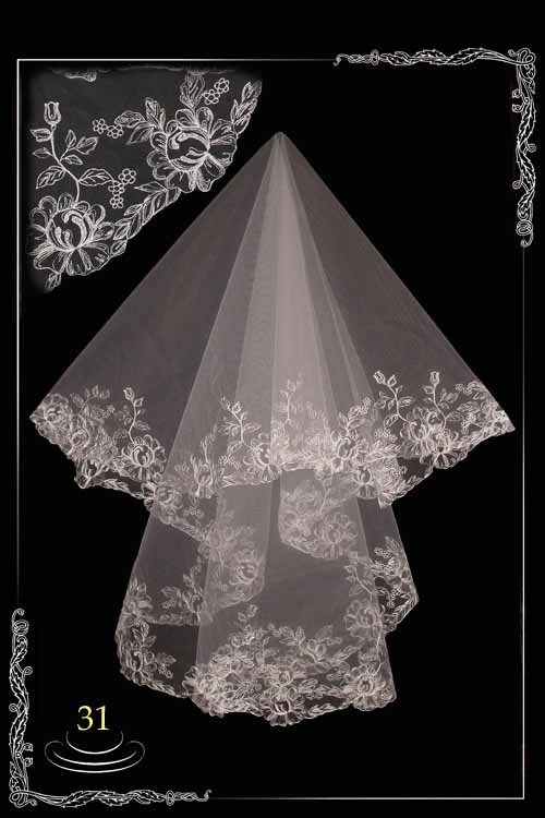Embroidered veils №31