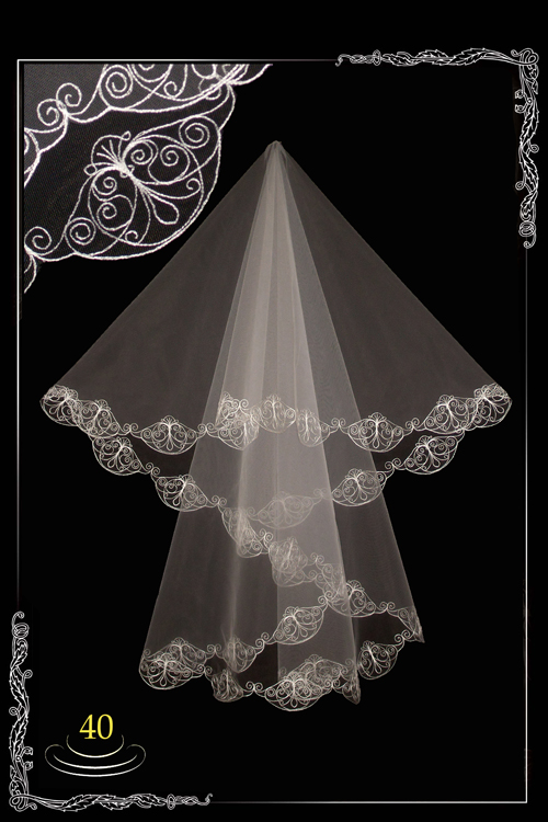 bridal veil embroidery №40