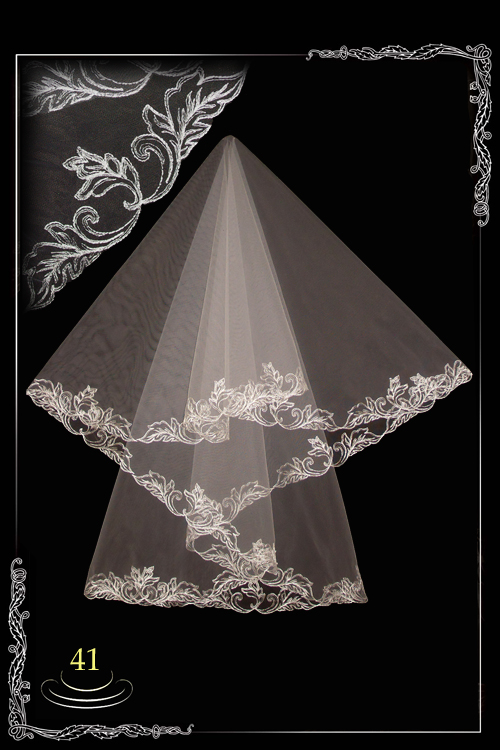 bridal veil embroidery №41