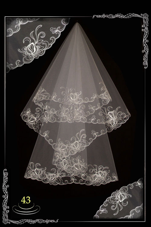 bridal veil embroidery №43