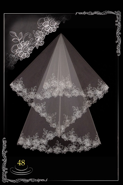 bridal veil embroidery №48