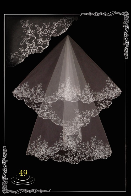 bridal veil embroidery №49