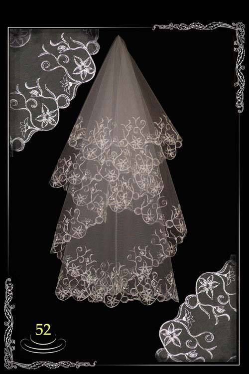 bridal veil embroidery №52