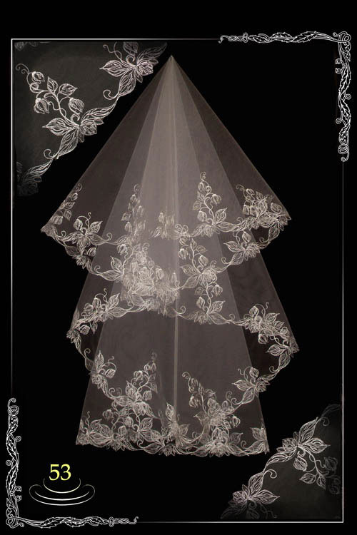 bridal veil embroidery №53