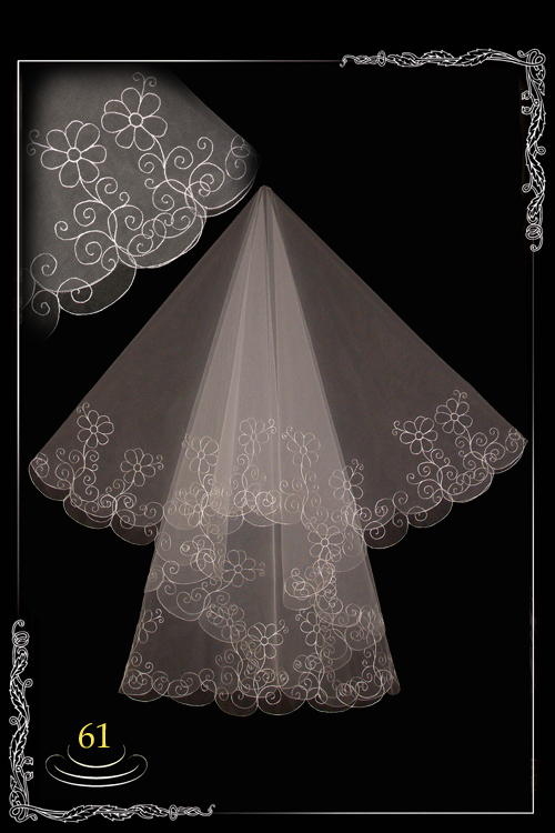 bridal veil embroidery №61
