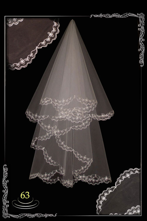 Embroidered veil №63