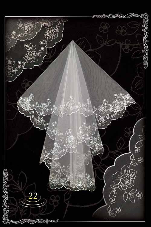 bridal veil embroidery №22