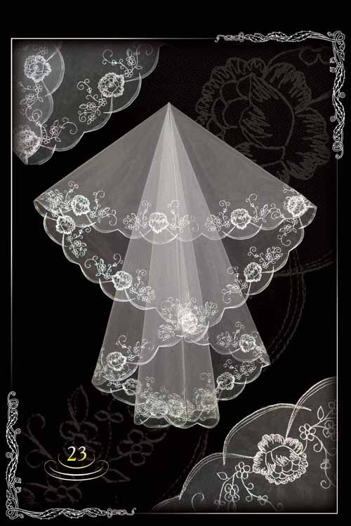 Embroidered veils №23