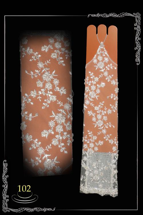 Перчатки свадебные №102
