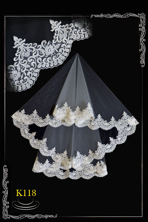 Weil from a lace with paillettes K 118