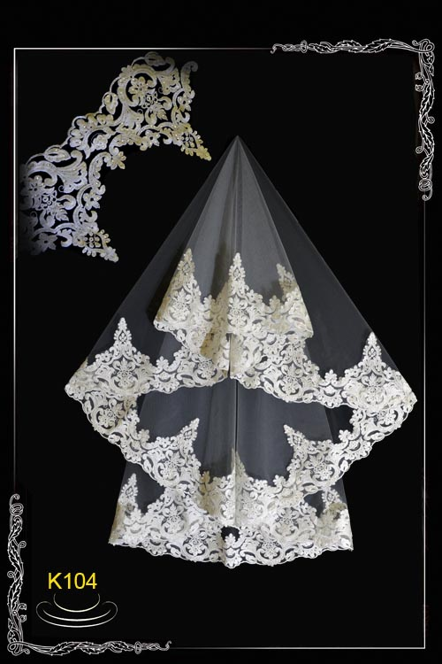 Weil from a lace with paillettes K 104