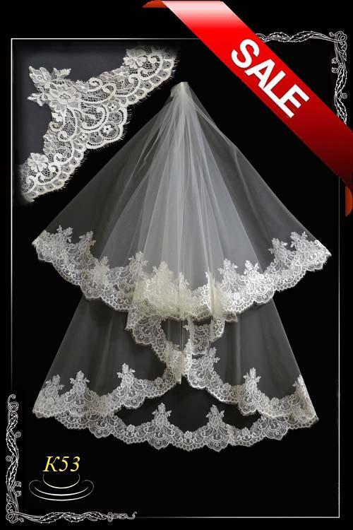 Veil made of lace chantillyl K53