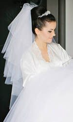 Simple veils, silk efects tulle  veils